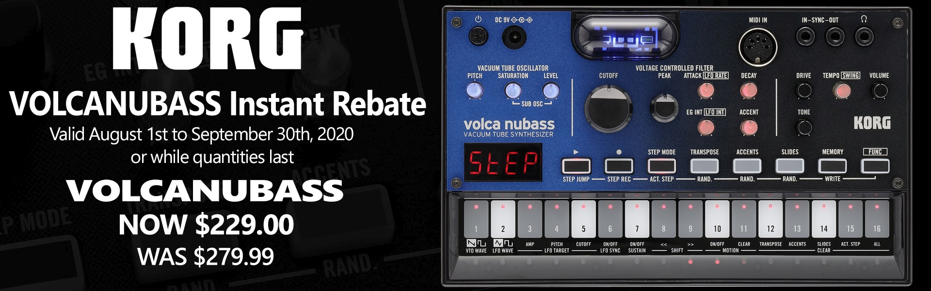 SAVE VolcaNuBass synthesizer from Korg!
